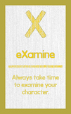 """ABC's of Character - Letter """"X""""- Poster"""