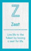 """ABC's of Character - Letter """"Z""""- Poster"""