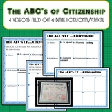 ABC's of Citizenship Worksheet- Civics & Government SS.7.C