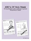 ABC's of Holy Week Uppercase and Lowercase letter tracing
