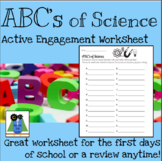 ABC's of Science Active Engagement Worksheet
