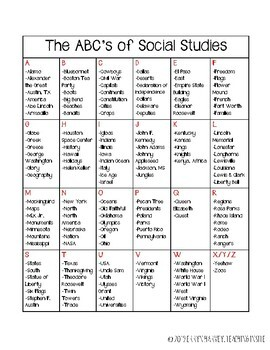 ABC's Chart - FREEBIE