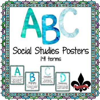 ABC's of Social Studies Poster Set--141 terms