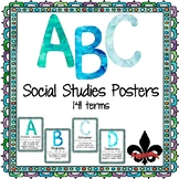 ABC's of Social Studies Poster Set--141 terms
