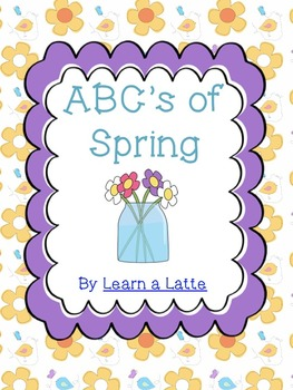ABC's of Spring Book (Color, B/W, 4 per page little reader, and Blank)