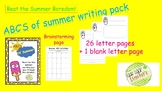 ABC's of Summer Writing Activity