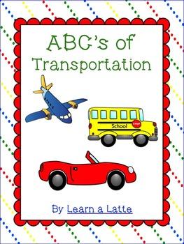 ABC's of Transportation Book (Color, B/W, 2 per page, 4 pe
