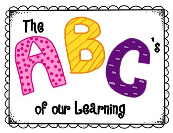 ABC's of our Learning UPDATED!