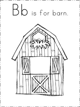 ABC's of the Farm Book (Color, B/W, 4 per page, and Make Your Own Versions)