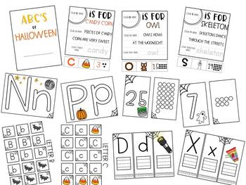 ABC's to Halloween Letters & Numbers Practice Bundle