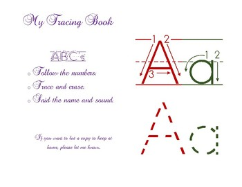 ABC's tracing book