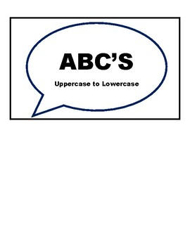 ABC's: Uppercase to Lowercase Work Task Box