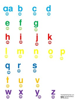 Alphabet with smiley touch-points