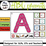 ABC - stitched (Preschool Placemats)