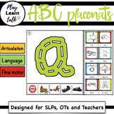 ABC - stitched (Preschool Placemats) LOWER CASE