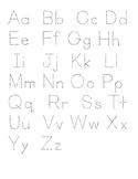 ABC tracing (English)