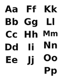 ABC upper and lower case letters