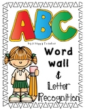 ABC word wall and letter recognition