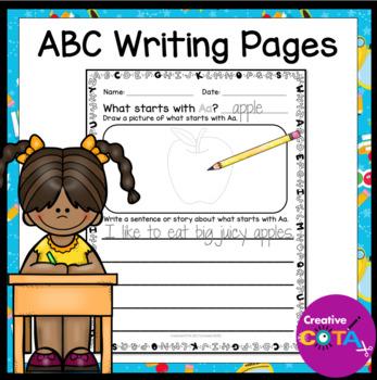 ABC Writing No Prep Worksheets