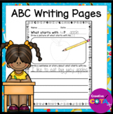 ABC Writing No Prep Worksheets