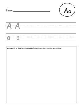 ABC writing practice