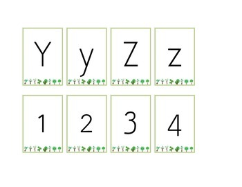 ABC/123 cards - simple tree border