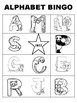 Alphabet Bingo and Coloring Sheets with Numbers