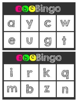 ABC/Beginning Sound Bingo