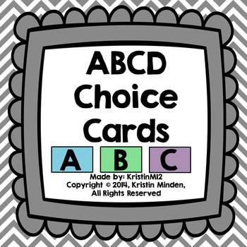 ABCD Choice Cards