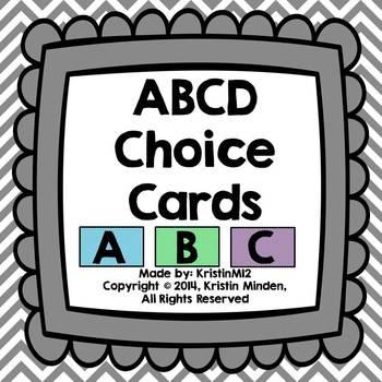 ABCD Choice Cards
