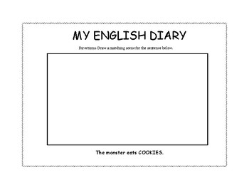 ABCD English Diary Template