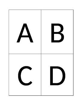 response card template