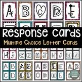 Multiple Choice Student Response Letter Cards ~ Make Test Prep Fun!