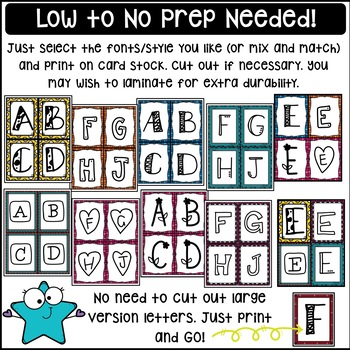 Multiple Choice Student Response Letter Cards ~ Make Test Prep Fun!