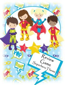 Test Review Game - Superhero Theme