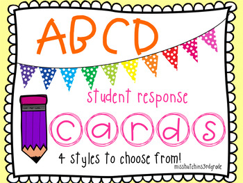 ABCD Student Response Cards