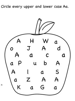 A,B,C,D Upper and Lower Case Letter Search