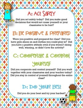 ABCD's of Physical Education Printable Poster