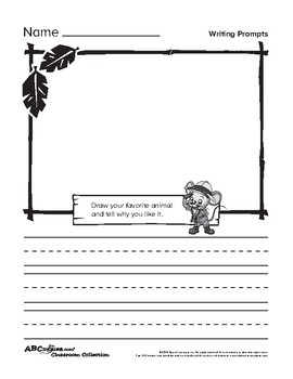 ABCMouse Opinion Writing Prompts (English and Spanish) by