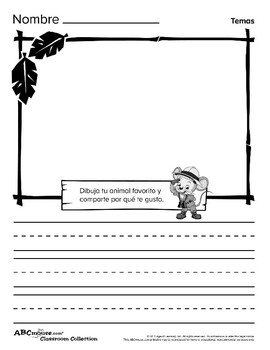 ABCMouse Opinion Writing Prompts (English and Spanish)