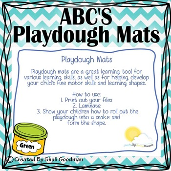 ABC'S Playdough Mats - Blue