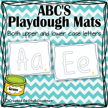 ABC'S Playdough Mats - Blue