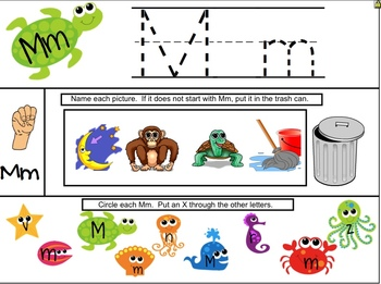 ABCSs by the Sea - Oceans of Alphabet Fun for the SMARTboard Letter Mm Freebie
