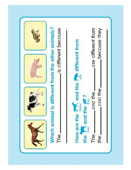 ABCmouse Logic Puzzle: Same and Different: Animals