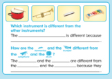 ABCmouse Logic Puzzle: Same and Different: Instruments