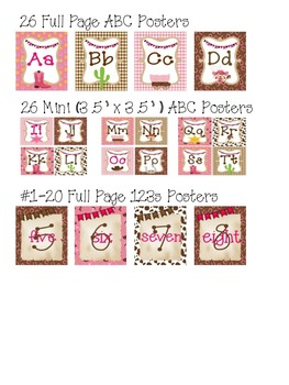 ABCs & 123s COWGIRLS Set