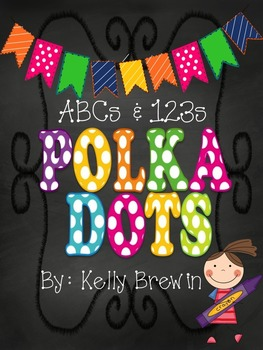 ABCs & 123s [Chalk] POLKA DOT {KIDS} Set