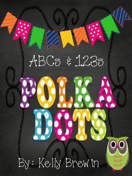 ABCs & 123s [Chalk] POLKA DOT {OWLS} Set