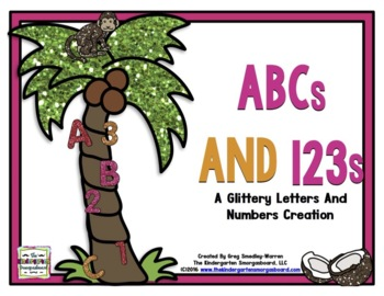 Letters And Numbers!   ABCs And 123s! A Glittery Letters and Numbers Creation