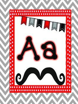 ABCs & 123s Mustache Mania Set